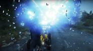 Huge blue lightning explosion