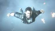 Rico wingsuiting, lightning flash (Eye of the Storm trailer)