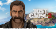 JC3 Rico with imperial mustache