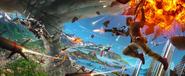 JC4 artwork (aerial battle at a tornado)