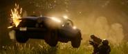JC4 1960s sports car (jumps near a fire)