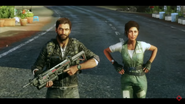 Rico and Mira (in a trailer)