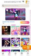 Danse jdnow menu phone 2020