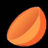 Collectible ball open orange