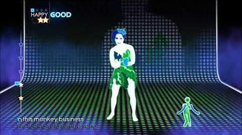 Just Dance 4 Jungle Drum all appearances in Puppet Master Mode