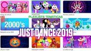 JUST DANCE 2019 PLAYLIST TEMATICAS MENU CANCIONES