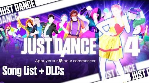 Just Dance 4 - Song List (Wii U PAL)
