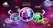 Girlfriend jd2 menu with jdgh icon will07498