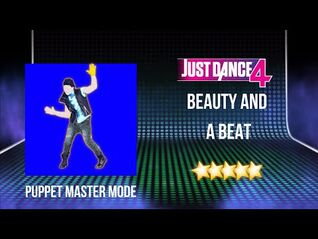 Just Dance 4 - Beauty and a Beat - Puppet Master Mode