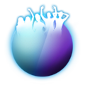Friend logo over