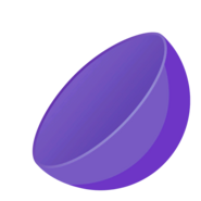 Collectible ball open purple