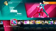 Groove jd2018 menu
