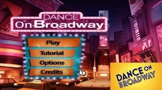 Dance on Broadway - Song List Menu