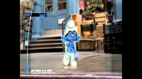 Drew Ryan Scott singing on Smurfs dance party (Just the way you are)