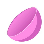 Collectible ball open pink