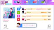 AdoreYou NOW score screen