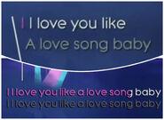 Loveyoulike lyrics comparison 1