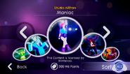 Maniac jd2 store menu