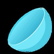 Collectible ball open blue