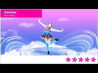 Just Dance 2021 Unlimited Starships 5 Stars + Megastar PS4 Gameplay Phone Mode