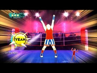 Just Dance- Greatest Hits (Wii) - Eye of the Tiger - 5 stars