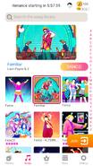 Familiar jdnow menu phone 2020