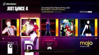 Just Dance 4 Menu Xbox 360 (complet)