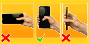 Hold phone