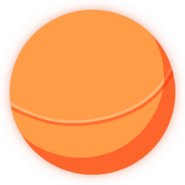 Collectible ball orange