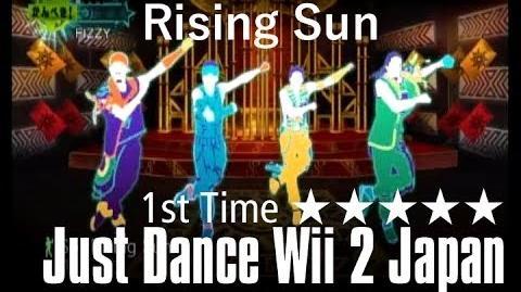 Rising Sun Just Dance Wii 2 Japan First Time 5 Stars