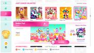 Bubblepop jd2020 menu