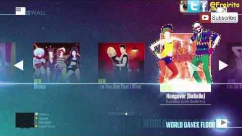 JUST DANCE 2016 Songlist OldGen Menu XBOX 360 first play