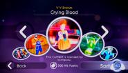 Cryingblood jd2 store menu