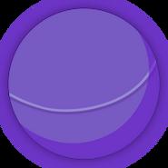 Collectible ball purple