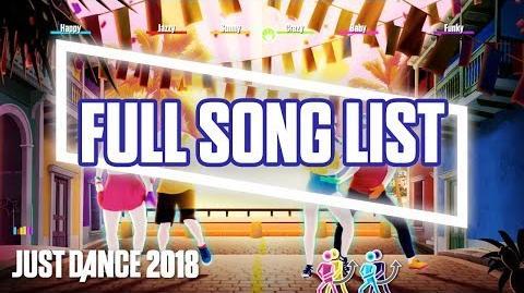 Full Tracklist - Just Dance 2018 (US)