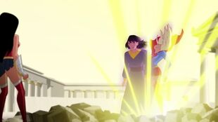 Wonder Woman gets her exorcise combatting Felix Faust.
