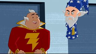 Uncle Dudley is not bamboozled by Mxyzptlk's wizard.