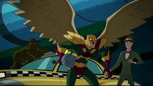 Swamp Thing and Hawkman fare better as Space Cabbie's fare.