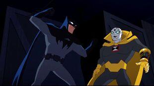 With foresight, Chronos dodges Batman.