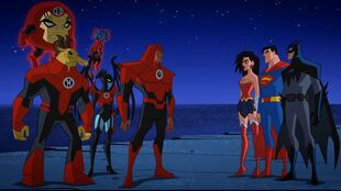 Red Lanterns or Justice League. Who will blink first?