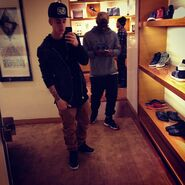 Justin takes mirror picture April 2013
