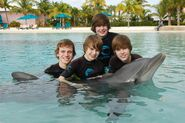 Ryan, Chaz, Christian and Justin in the Bahamas January 2010