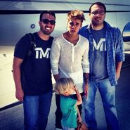 Justin Bieber with Shahidi brothers
