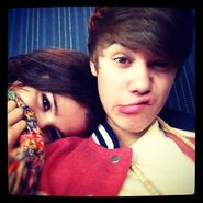Justin with Selena 2012