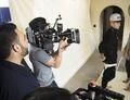 Justin Bieber at Poo Bear's music video set