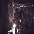Justin Bieber and Cody Simpson recording in the studio