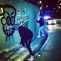 Justin Bieber and Khalil graffiti