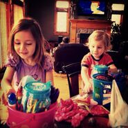 Jazzy and Jaxon Bieber