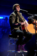 Justin Bieber performs onstage at the 2010 Nickelodeon Upfront Presentation
