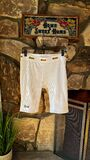 Rib bike shorts - white